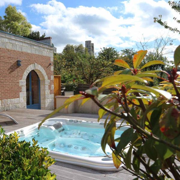 Jacuzzi Hotel Spa Le clos des fontaine normandie