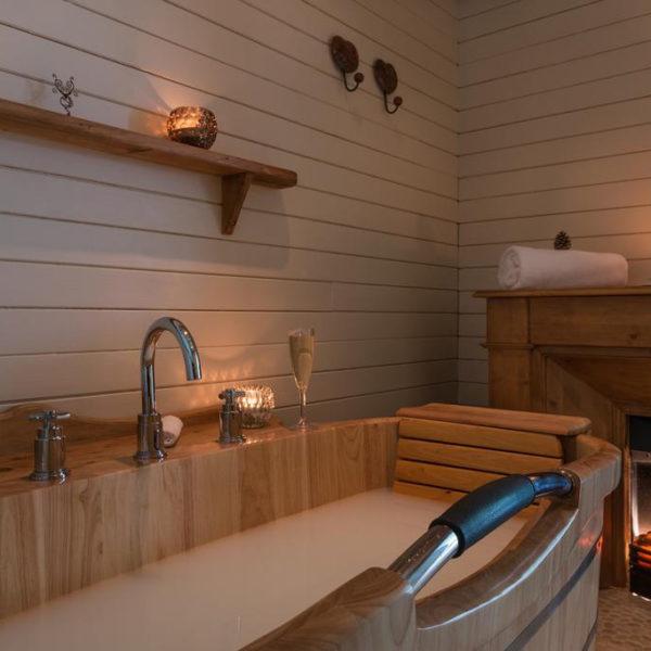baignoire hotel chamois d'or rhone alpes