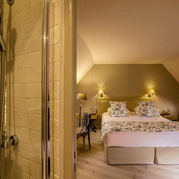 chambre double hotel Les Manoirs de Tourgeville Normandie