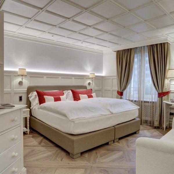 chambre luxe grand hotel des alpes