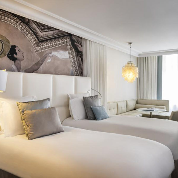 chambre twin hotel les cures marine Normandie
