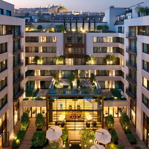 extérieur mandarin oriental hotel spa paris