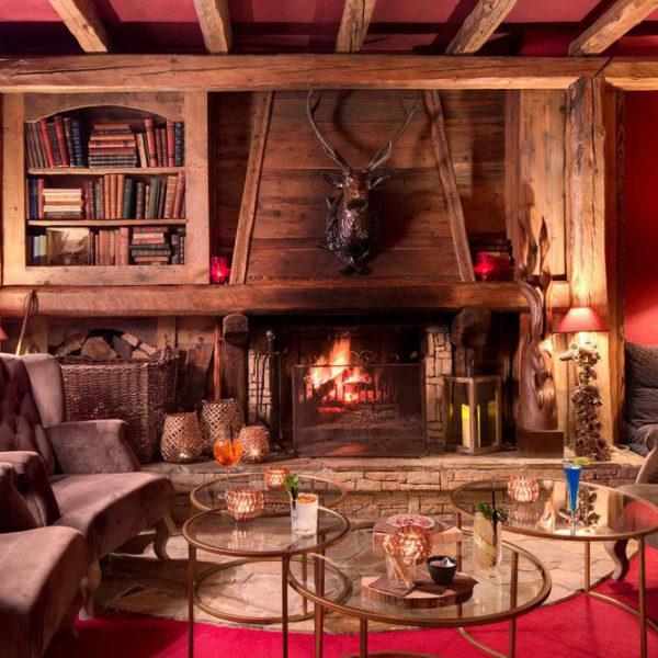 intérieur hotel chamois d'or rhone alpes