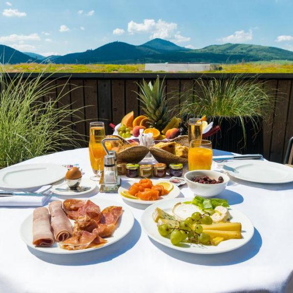 petit dejeuner paysage alsace