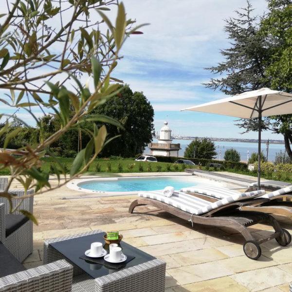piscine manoir des impressionnistes Normandie