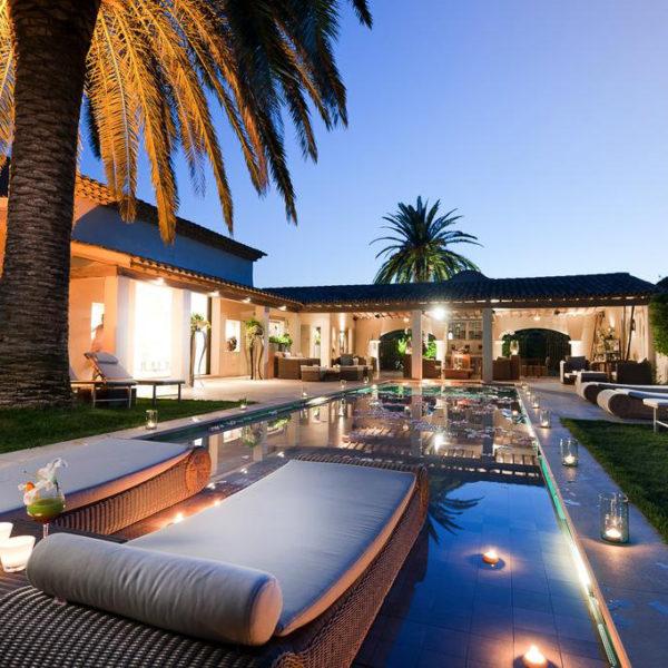 piscine nuit hotel spa paca