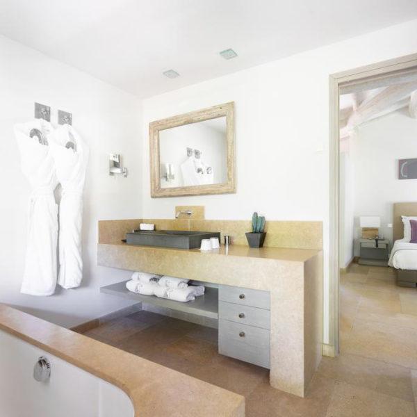salle de bain le pre de la mer saint tropez PACA
